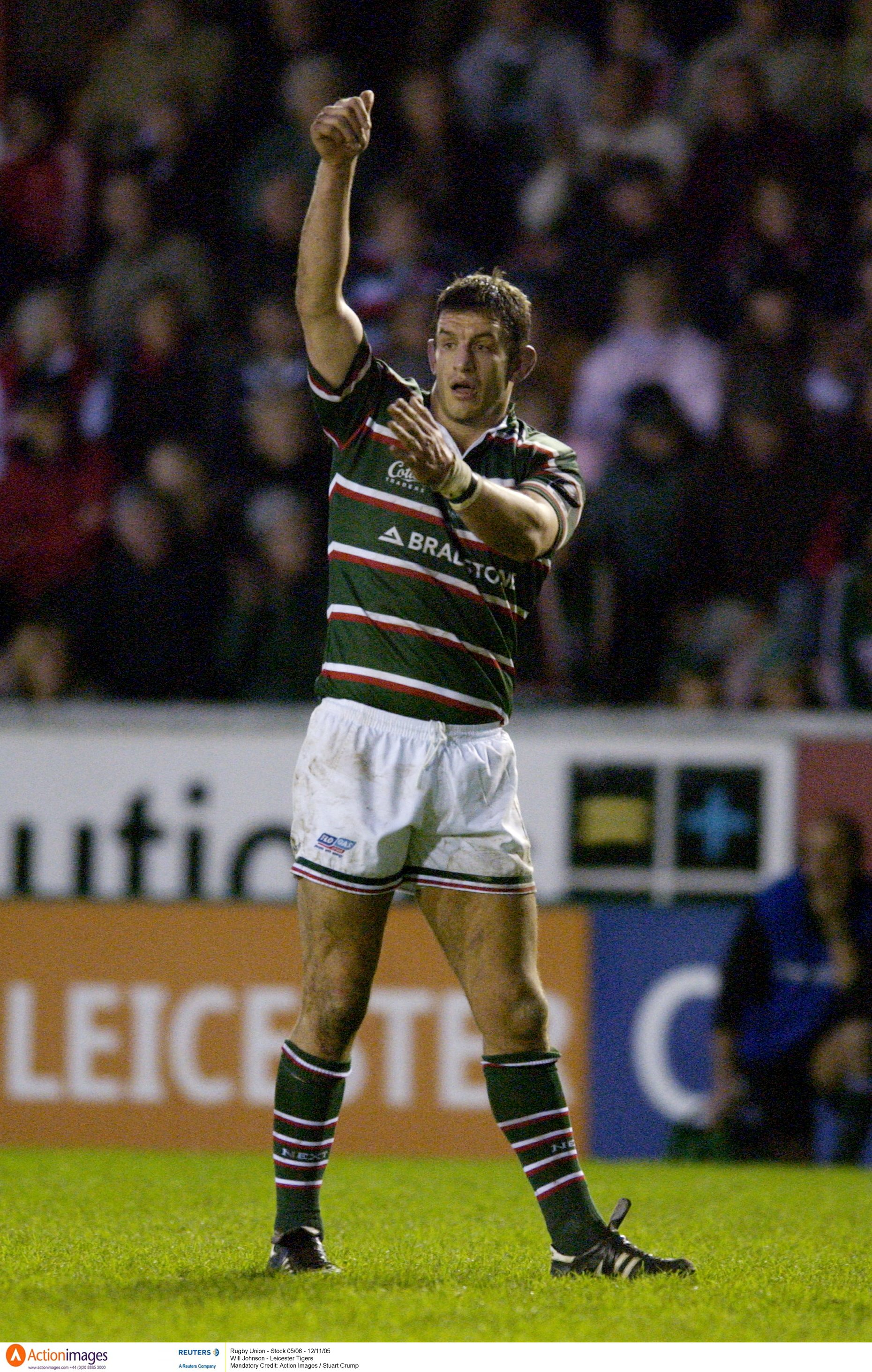 Will Johnson Leicester Tigers Rugby 12 11 2005